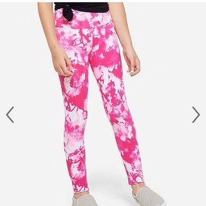 NWT Justice Pink Tie Dye Leggings